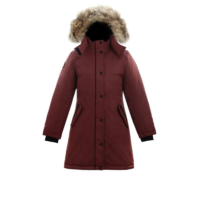 Alistair II Girl's Winter Parka Triple F.A.T. Goose Maroon 8