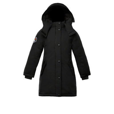 Alistair Girl's Parka Triple F.A.T. Goose Black With Fur 4