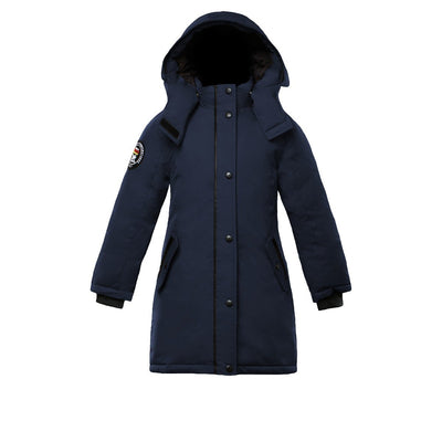 Alistair Girl's Parka Triple F.A.T. Goose Navy With Fur 4