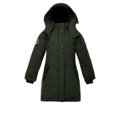 Alistair Girl's Parka Triple F.A.T. Goose Olive With Fur 4