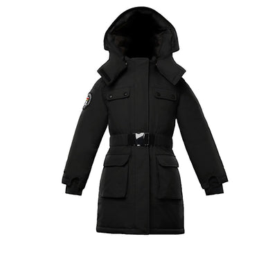 Arkona Girl's Parka Triple F.A.T. Goose Black With Fur 4