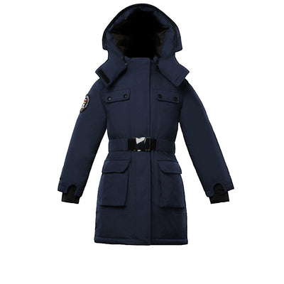 Arkona Girl's Parka Triple F.A.T. Goose Navy With Fur 4