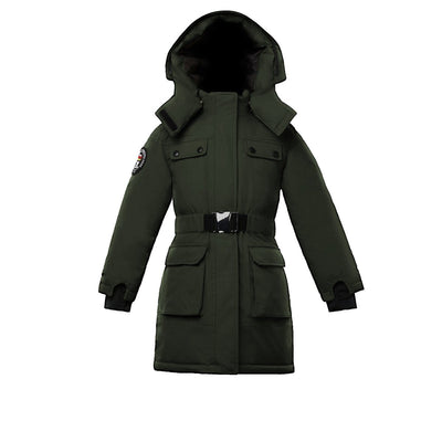 Arkona Girl's Parka Triple F.A.T. Goose Olive With Fur 4