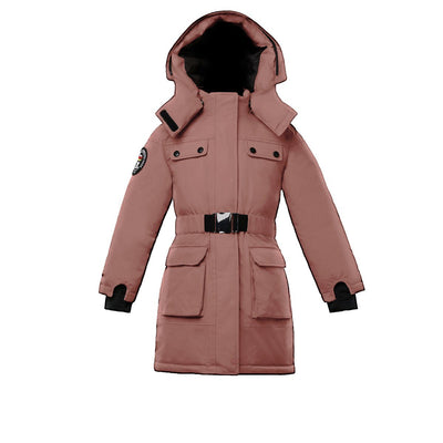 Arkona Girl's Parka Triple F.A.T. Goose Pink With Fur 4