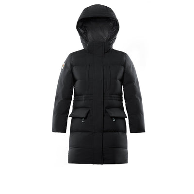 Fara Girl's Long Down Jacket Triple F.A.T. Goose Black 8