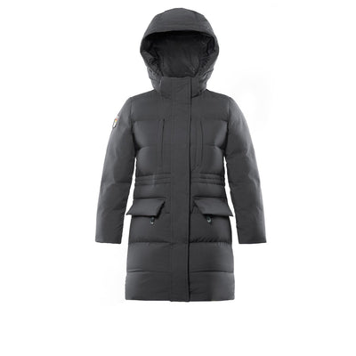 Fara Girl's Long Down Jacket Triple F.A.T. Goose Charcoal 8
