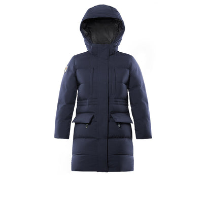 Fara Girl's Long Down Jacket Triple F.A.T. Goose Navy 8