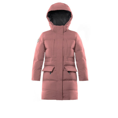 Fara Girl's Long Down Jacket Triple F.A.T. Goose Pink 8
