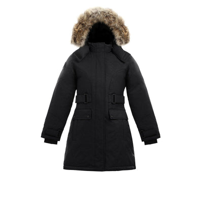 Isella Girl's Down Coat Triple F.A.T. Goose Black 8