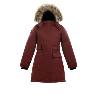 Isella Girl's Down Coat Triple F.A.T. Goose Maroon 8