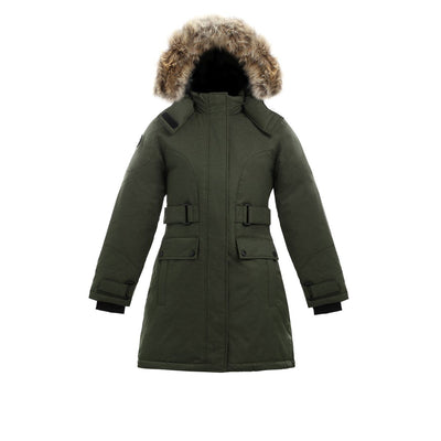 Isella Girl's Down Coat Triple F.A.T. Goose Olive 8