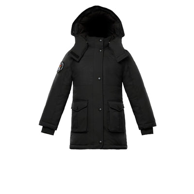 Madigan Girl's Coat Triple F.A.T. Goose Black With Fur 4