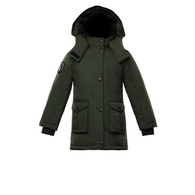 Madigan Girl's Coat Triple F.A.T. Goose Olive With Fur 4