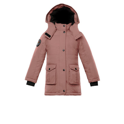 Madigan Girl's Coat Triple F.A.T. Goose Pink With Fur 4