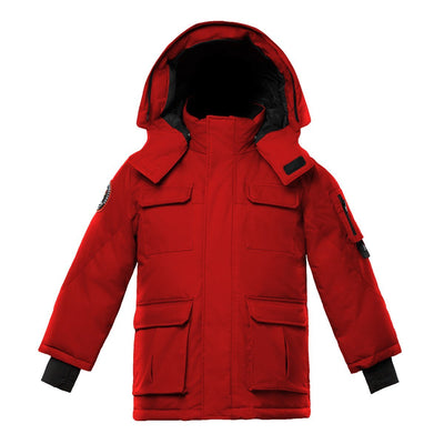 Chenega Boy's Parka Triple F.A.T. Goose Red With Fur 4