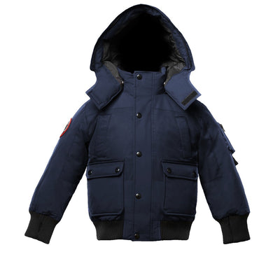 Grinnell Boy's Bomber Jacket Triple F.A.T. Goose Navy With Fur 4
