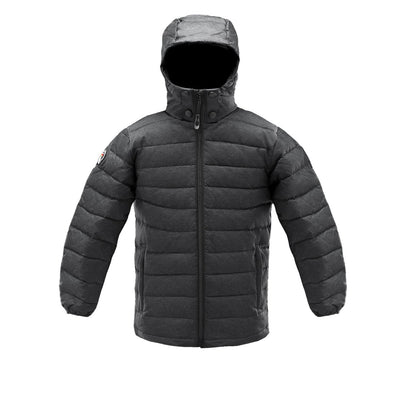 Logan Boy's Lightweight Down Jacket Triple F.A.T. Goose Charcoal 8/10