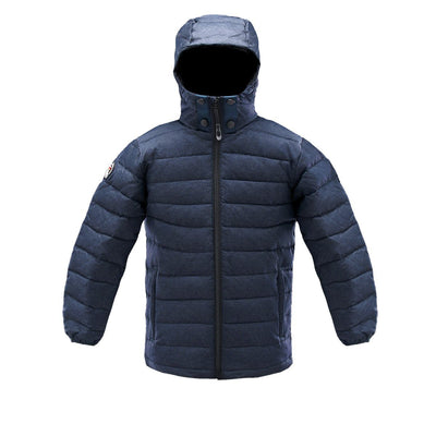 Logan Boy's Lightweight Down Jacket Triple F.A.T. Goose Navy 8/10