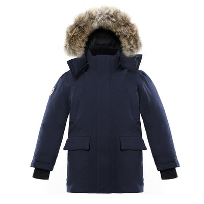 Huron Boy's Waterproof Parka Triple F.A.T. Goose Navy 8/10