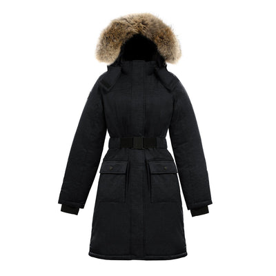 Estelle Women's Belted Down Parka Triple F.A.T. Goose Black XS