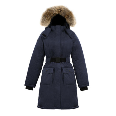 Estelle Women's Belted Down Parka Triple F.A.T. Goose Navy XS