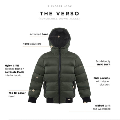Verso Boy's Reversible Down Jacket