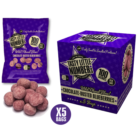 #23 100 Calorie Chocolate-Dusted Blueberries | 5 Bags Per Cube