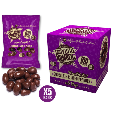 #22 100 Calorie Chocolate-Coated Peanuts | 5 Bags Per Cube