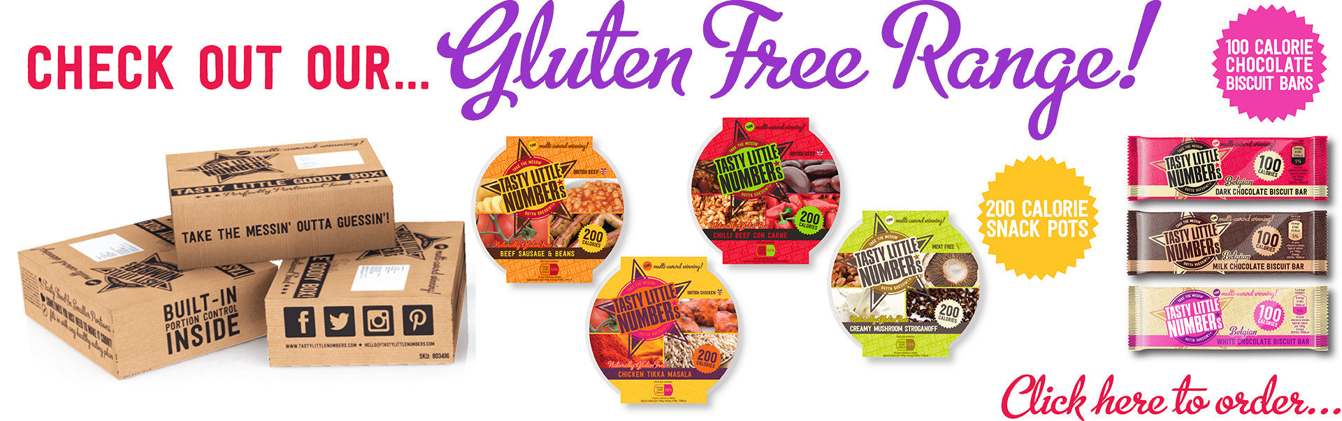 CHECK OUT OUR GLUTEN FREE RANGE! ALL SUITABLE FOR COELIACS!