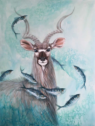 Sea Stag Art Title - Online Art Shop Brighton, UK