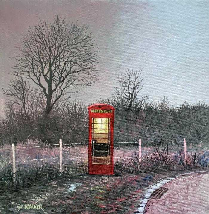 A Country Phonebox Art Title - Online Art Shop Brighton, UK