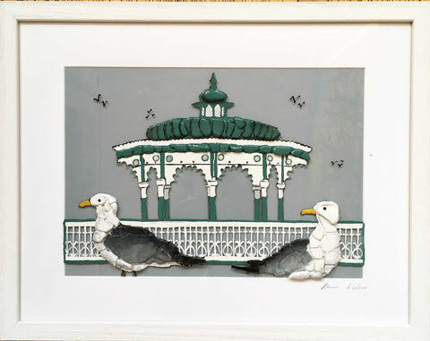 Bandstand Seagull View Art Title - Online Art Shop Brighton, UK