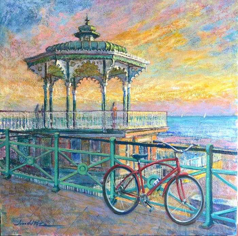 Bandstand Sunset Art Title - Online Art Shop Brighton, UK