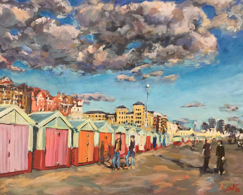 Beach Hut Promenade Art Title - Online Art Shop Brighton, UK
