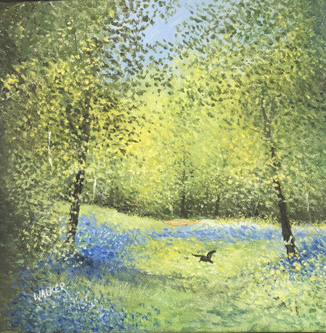 Bluebell Bird Art Title - Online Art Shop Brighton, UK