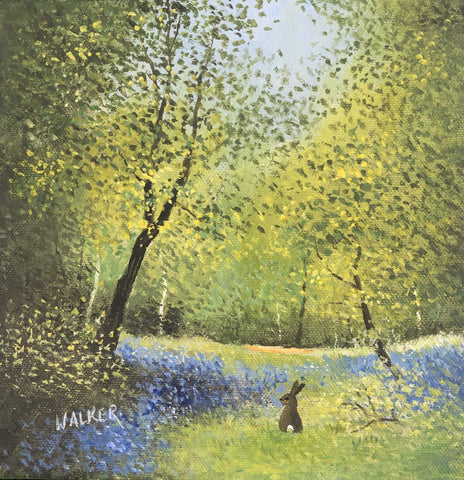 Bluebell Hare Art Title - Online Art Shop Brighton, UK