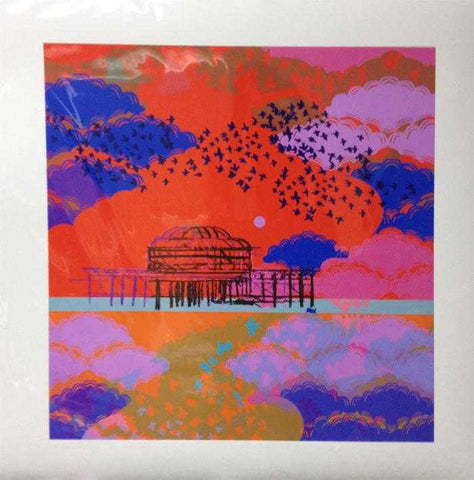 Mini Brighton Starlings Art Title - Online Art Shop Brighton, UK