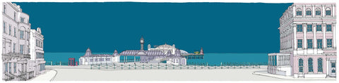 Brighton City Pier Ocean Blue Art Title - Online Art Shop Brighton, UK