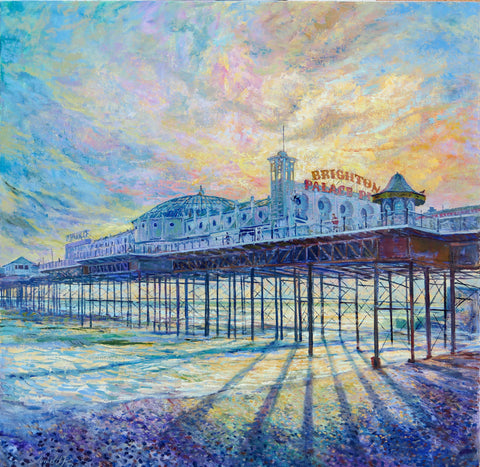 Brighton Palace Pier Art Title - Online Art Shop Brighton, UK
