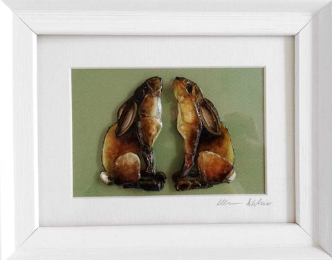 Double Hare Art Title - Online Art Shop Brighton, UK