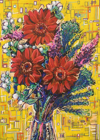 Gerbera Lovely Gerbera Art Title - Online Art Shop Brighton, UK