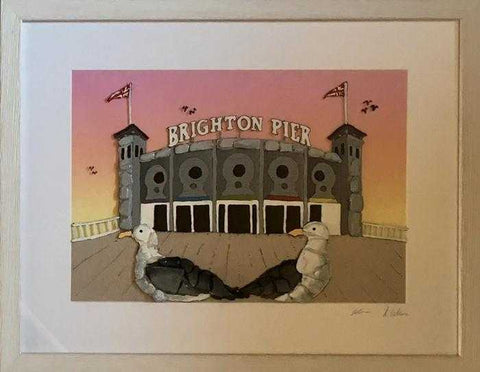 Gulls at the Brighton Pier II Art Title - Online Art Shop Brighton, UK