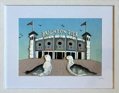 Gulls at the Brighton Pier I Art Title - Online Art Shop Brighton, UK