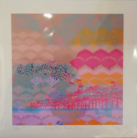 Mini Brighton Pier Sky Art Title - Online Art Shop Brighton, UK