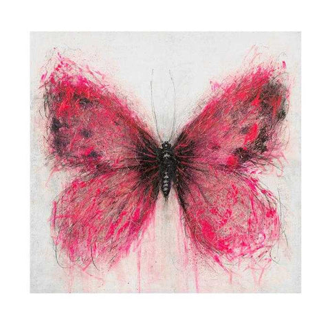 Pink Butterfly Art Title - Online Art Shop Brighton, UK