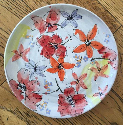 Medium Floral Plate Art Title - Online Art Shop Brighton, UK