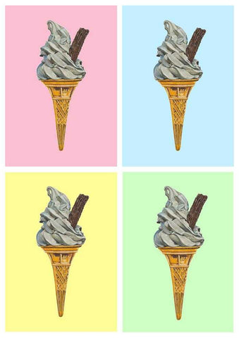 Pastel Mr Whippy Art Title - Online Art Shop Brighton, UK