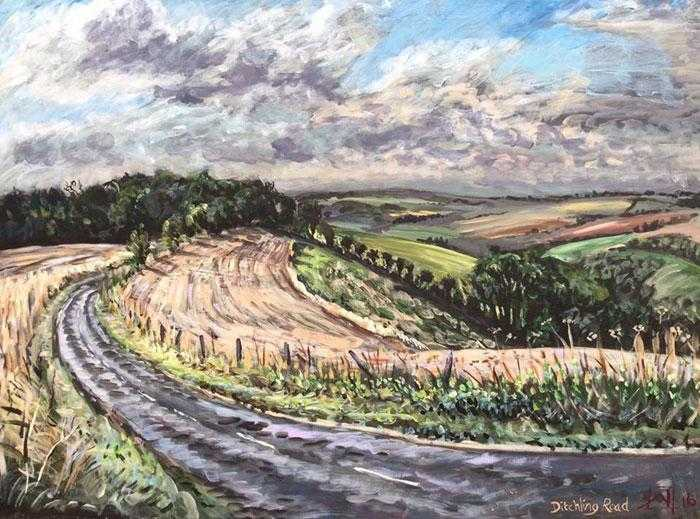 On the Way to Ditchling Beacon Art Title - Online Art Shop Brighton, UK