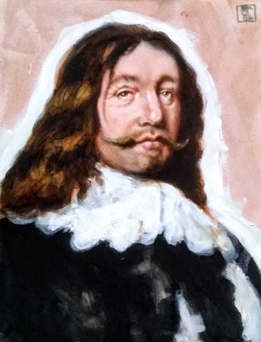 Portrait of a Moustache after Bartholomeus Van Der Helst Art Title - Online Art Shop Brighton, UK