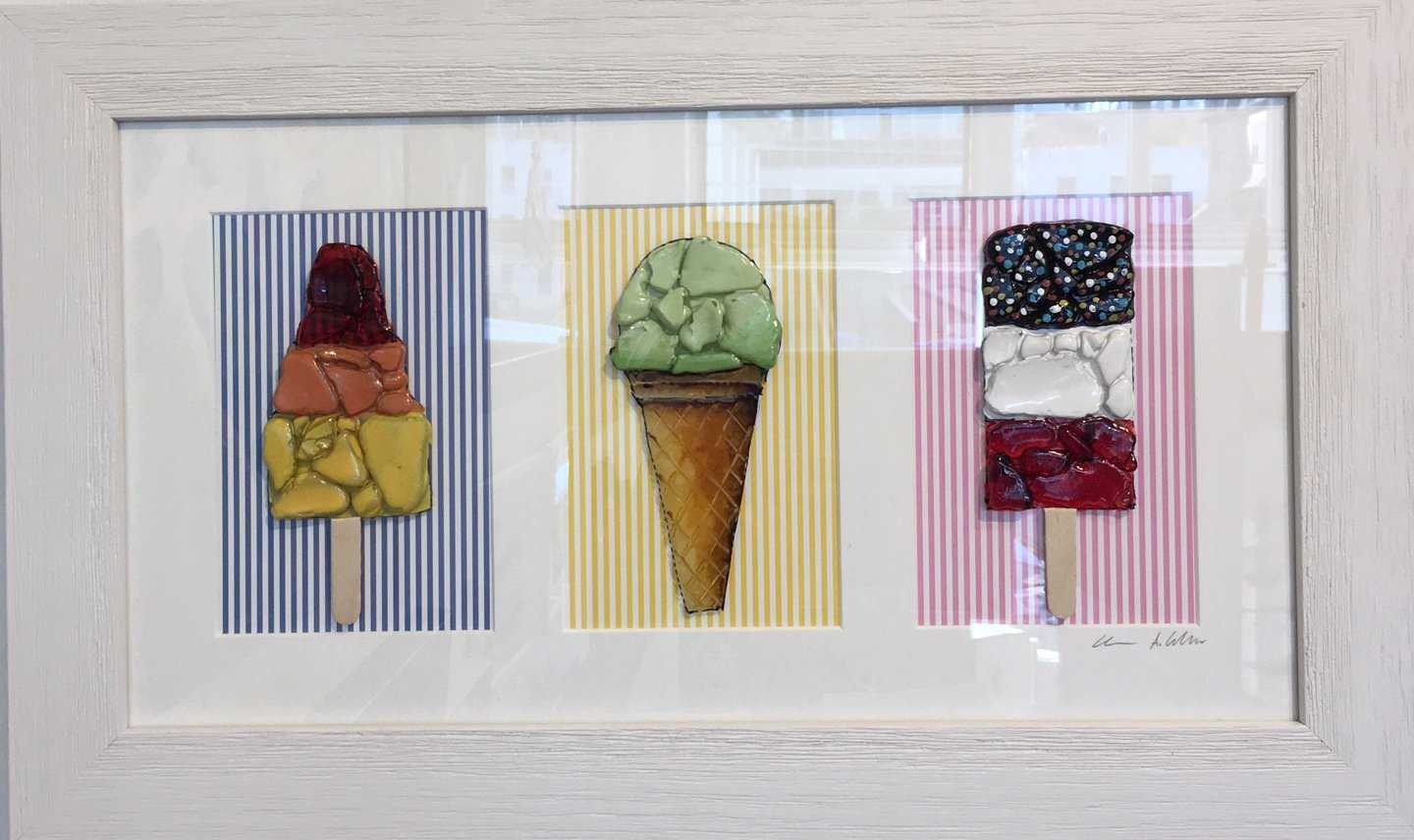 Retro Lollies II Art Title - Online Art Shop Brighton, UK